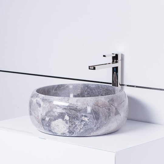 Anatara Veli Natural Stone luxury vessel Sink | Grey-Taupe