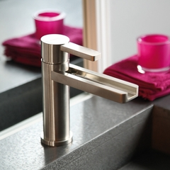 AQUA BRUSHED NCKEL HIGH END BATHROOM FAUCET