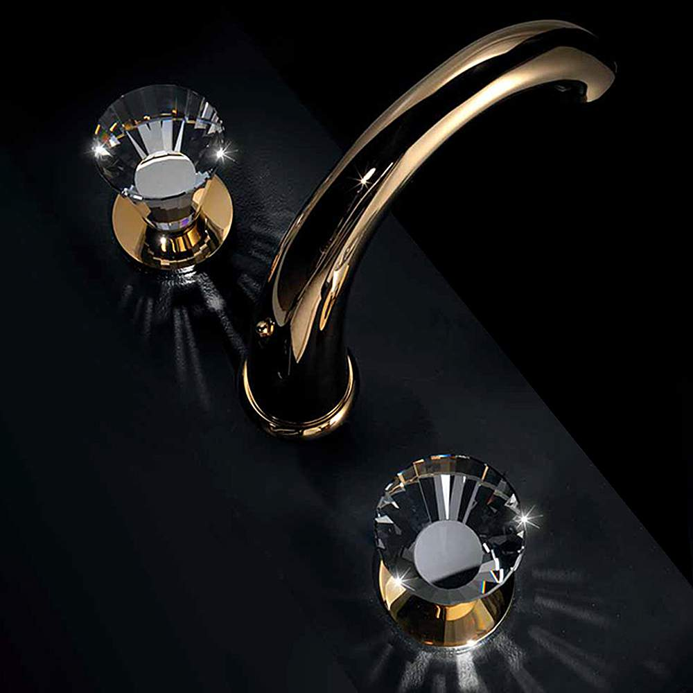 ARTIK 3-Hole Polished Gold Luxury Bathroom Faucet