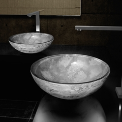 ATELIER LUNA 44 GREY -  Dual Textured Bathroom Vessel Sink