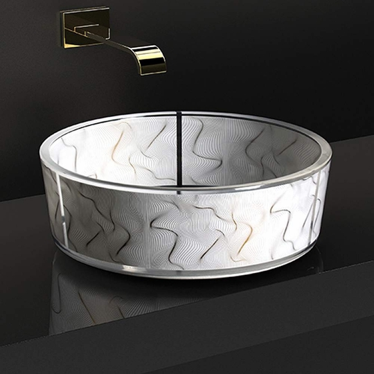 Atelier Vento High end Bathroom Sink White Gold
