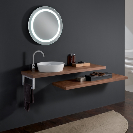 Modern CLEO 09 Veneered Walnut Vessel Sink Stand