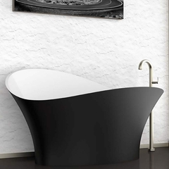 Calla Lily Contemporary Bathtub | Black