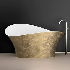 Calla Lily Contemporary Bathtub | Gold Leaf