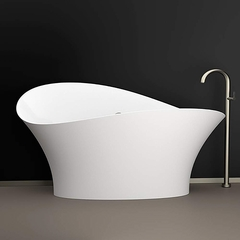 Calla Lily Contemporary Bathtub | White