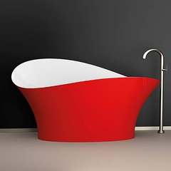Calla Lily Designer Bathtub | Red