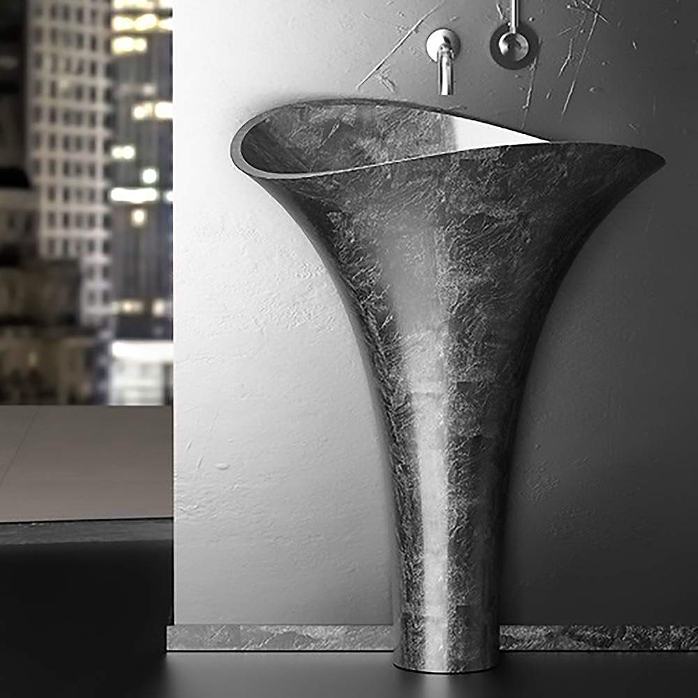 Calla Lily Freestanding Bath Sink | Silver Leaf on free standing sinks home depot, free standing bathroom ideas, free standing bathroom shelving, modern wall mount sinks, free standing stone sinks, free standing bathroom vanities, free standing bar sinks, free standing double utility sink, free standing plumbing, free standing outdoor sinks, free standing stainless sink, free standing fixtures, free standing farm sink, free standing saunas, free standing spas, small free standing sinks, free standing tub drains, free standing bathroom tubs, pedestal sinks, free standing bathtub curtain,