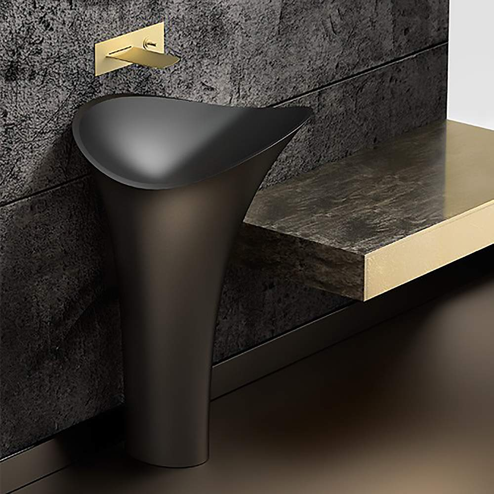Calla Lily Modern Freestanding Bath Sink | Black on free standing sinks home depot, free standing bathroom ideas, free standing bathroom shelving, modern wall mount sinks, free standing stone sinks, free standing bathroom vanities, free standing bar sinks, free standing double utility sink, free standing plumbing, free standing outdoor sinks, free standing stainless sink, free standing fixtures, free standing farm sink, free standing saunas, free standing spas, small free standing sinks, free standing tub drains, free standing bathroom tubs, pedestal sinks, free standing bathtub curtain,