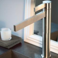 CASO BRUSHED NICKEL DESIGNER BATHROOM FAUCET
