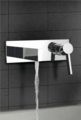 Luxury Wall Mount Bathroom Faucet Caso Chrome