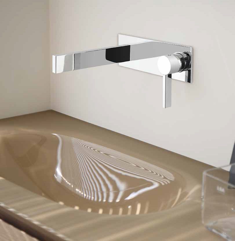 bathroom widespread sink faucet with b standard polished berwick wall american mounted faucets lever mount handles