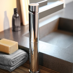CASO POLISHED NICKEL  MODERN  BATHROOM FAUCET