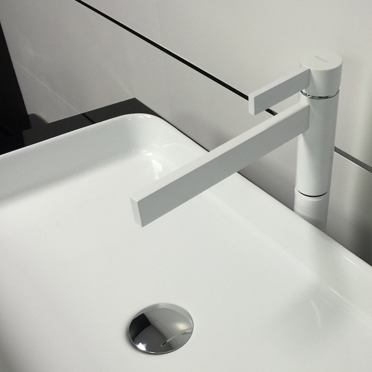 CASO WHITE MAT MODERN BATHROOM FAUCET