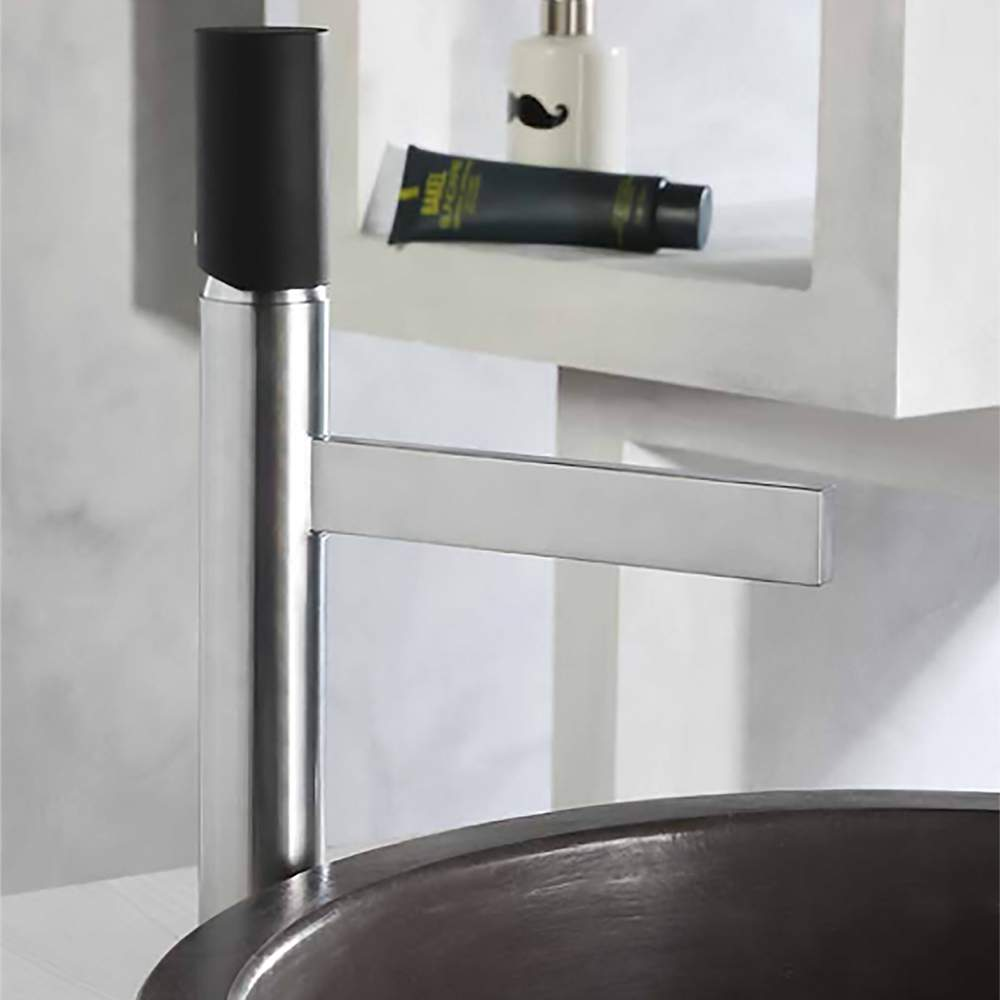 Century modern bathroom faucet brushed chrome