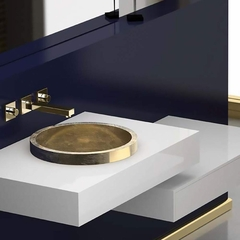 Vetrofreddo Circular Drop-in Bath Sink | Gold Leaf