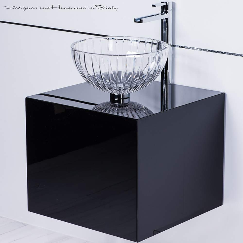 Luxury italian 20 inch black lacquer vanity sink combo - 20 inch bathroom vanity and sink ...