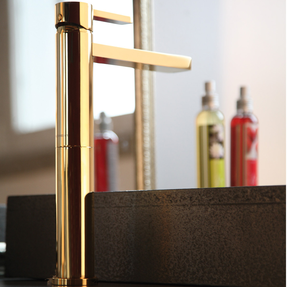 Bathroom Fixtures Gold polished gold modern bathroom faucet