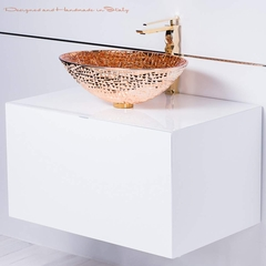 Elegant chic rose gold crystal sink and faucet combo