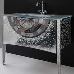 "MURANO GLASS VANITY 44"" PLATINUM"