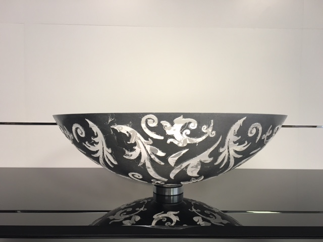 DAMASCO Fancy Glass Vessel Sink. Fancy Glass Vessel Sink