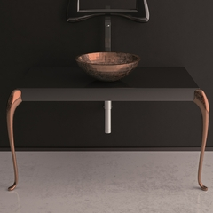 MUSA Console Black Copper Leaf