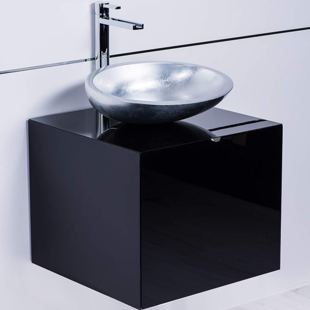 Dora Black Lacquered Bathroom Vanity 20 Inch