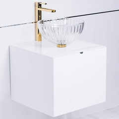 Dora White Lacquered Bathroom Vanity 20 Inch