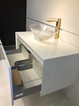 Dora White Lacquered Bathroom Vanity 30 Inch