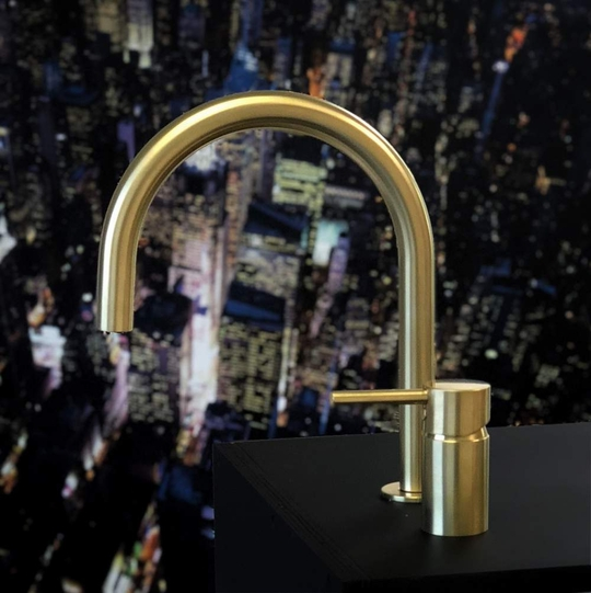 Fancy Bathroom Faucet with Separate Handle | Brushed Gold