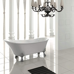 Freestanding Clawfoot Bathtub | White