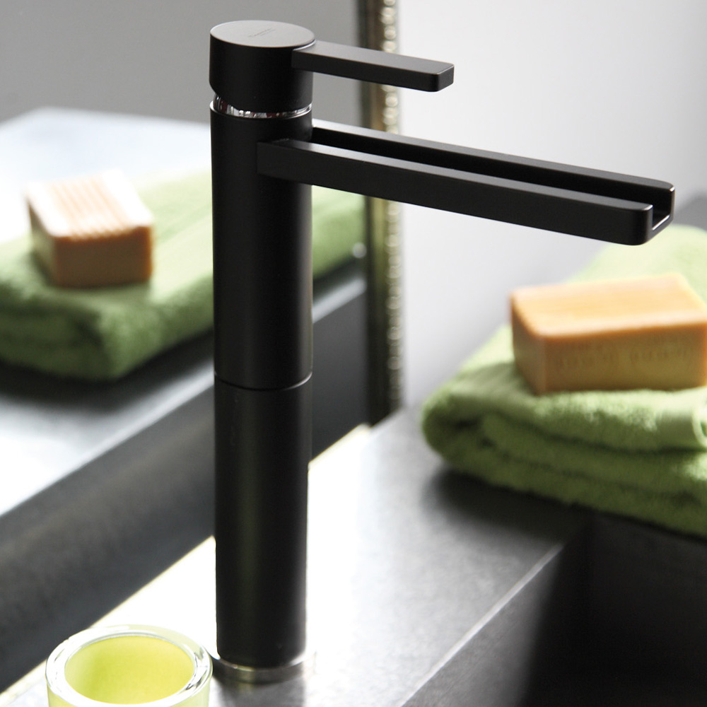AQUA BLACK MAT HIGH END BATHROOM FAUCET