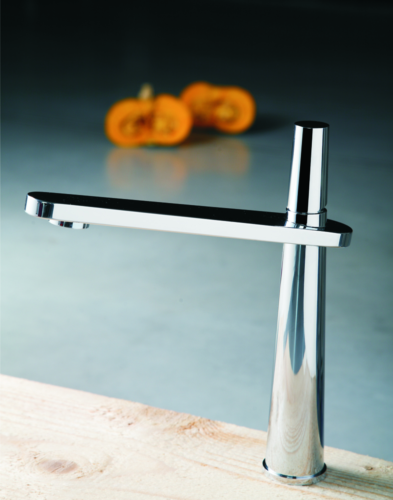 Cross Brushed Nickel Modern Kitchen Faucet For Sale