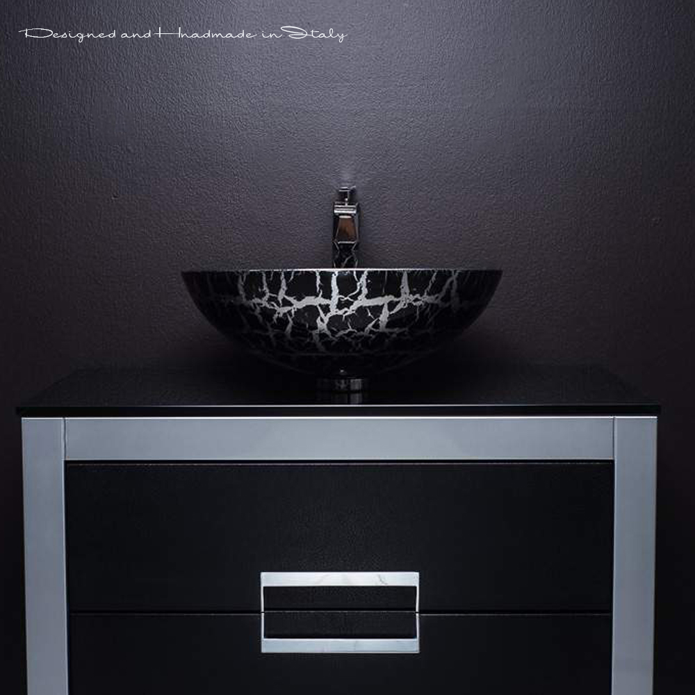 32 inch bathroom vanity with top | black and silver 32 Inch Bathroom Vanity