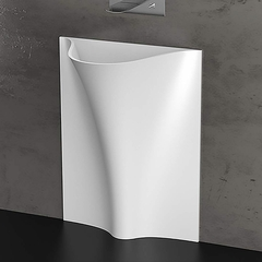 High end Pedestal Sink | White