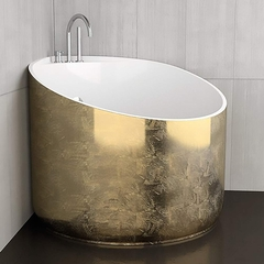High end Small Gold Leaf Bathtub