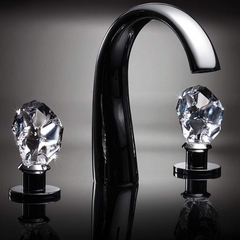 ICE Crystal 3-hole Bathroom Faucet | Polished Chrome