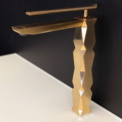 IKON Brushed Gold Luxury Vessel Sink Faucet