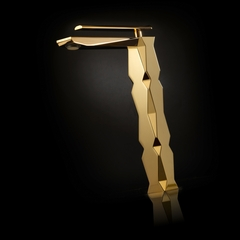 IKON Polished Gold Luxury Vessel Sink Faucet