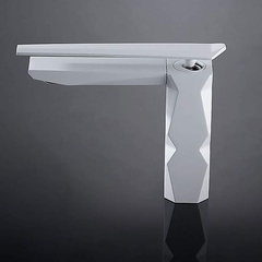 IKON Ultra Modern Bathroom Faucet | White
