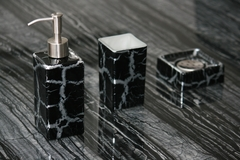 KALAHARI SET BLACK SILVER | Modern Bathroom Set