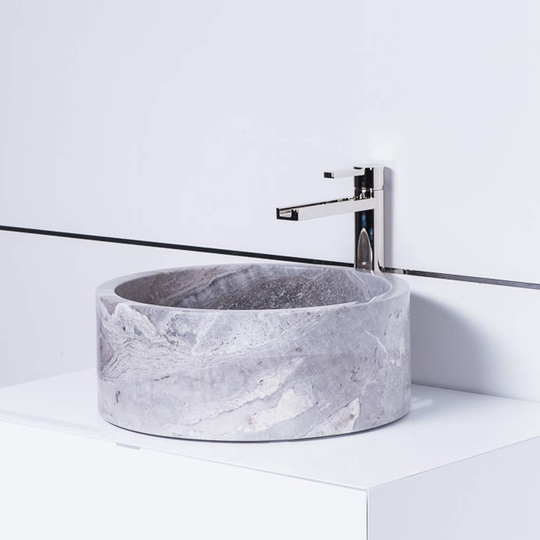 Koh Samui Natural Stone Luxury Vessel Sink | Grey-Taupe