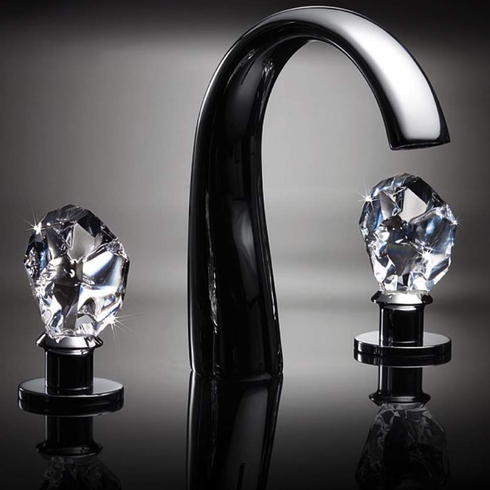 3 hole faucet oil rubbed bronze lux crystal 3hole bathroom faucet polished chrome
