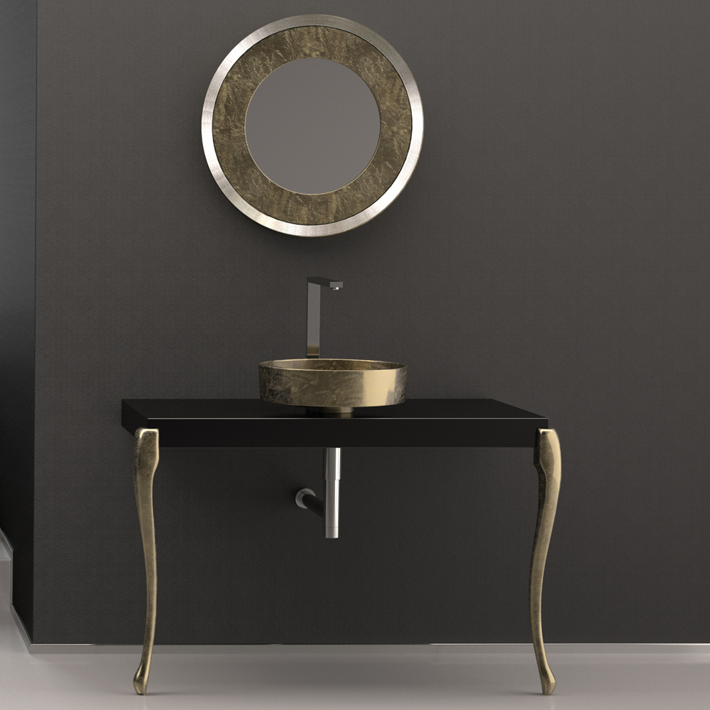 Bon MUSA Console Black Gold Leaf