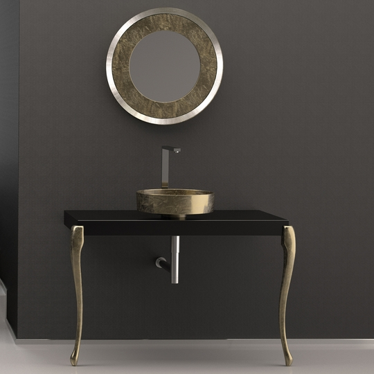 MUSA Console Black Gold Leaf