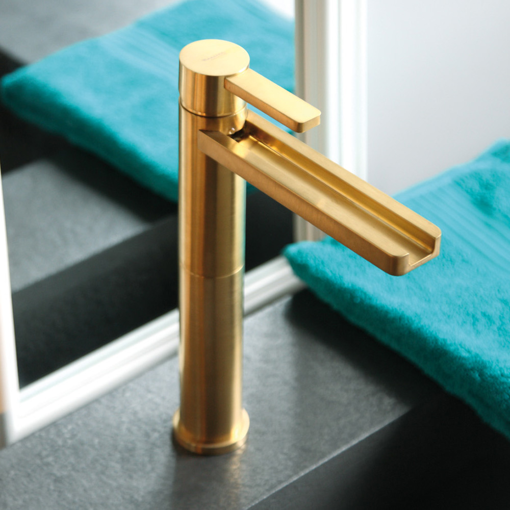 gold bathroom faucet. AQUA BRUSHED GOLD LUXURY BATHROOM FAUCET Gold Bathroom Faucet