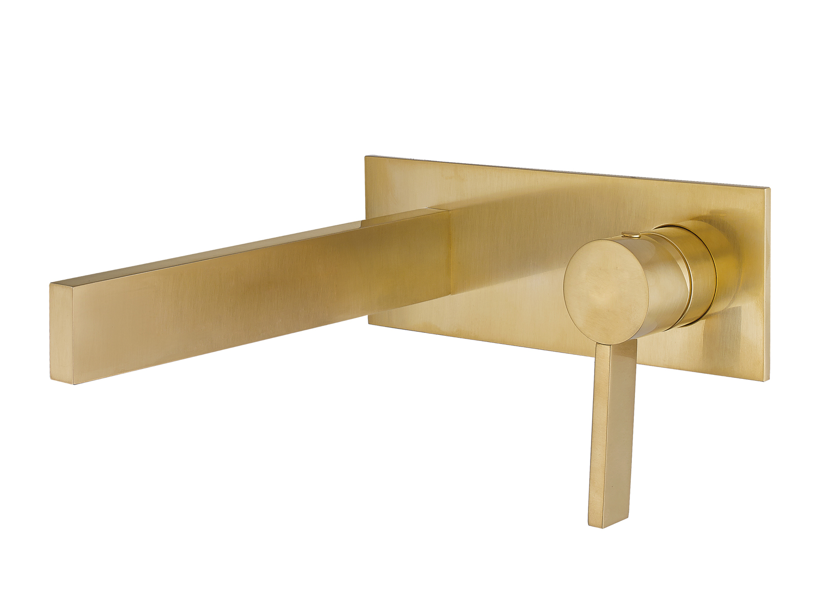 Luxury Wall Mount Bathroom Faucet Caso Brushed Gold