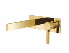 Luxury Wall Mount Bathroom Faucet Caso Polished Gold