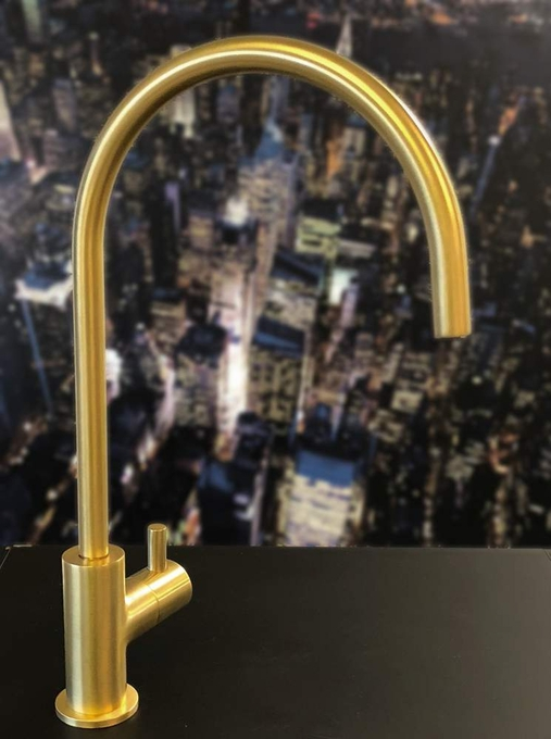 Modern Bar Sink Faucet | Brushed Gold