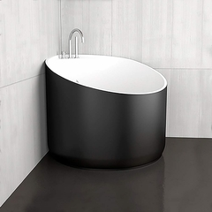 Modern Compact Bathtub | Black