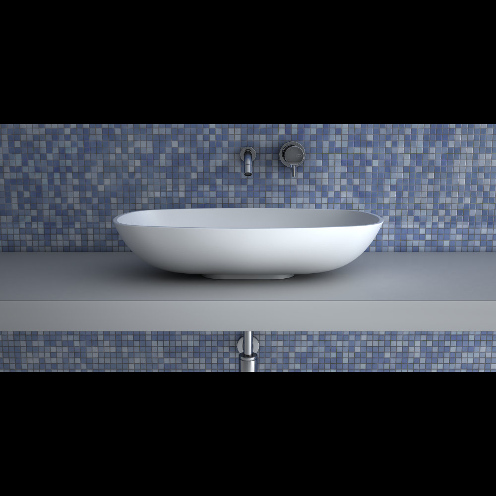 TEKNOFORM GAMMA WHITE POLISH | Modern White Countertop Sink